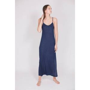 As We Are Now The Slip Dress : With Cashmere - Deep Sea Blue