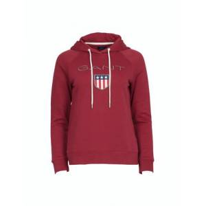 GANT Shield Sweat Hoodie - Mahogny Red