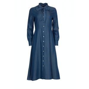 GANT Chambray Bow Shirt Dress - Dark Indigo
