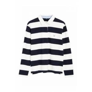 GANT Original Barstripe Heavy Rugger LS - Evening Blue