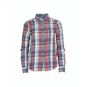 GANT Winter Flannel Madras Shirt - Smoked Paprika