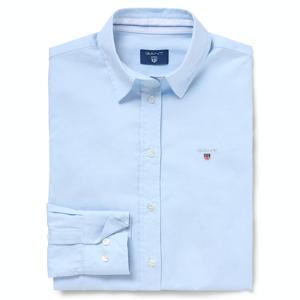 GANT Stretch Oxford Solid Skjorte - Light Blue