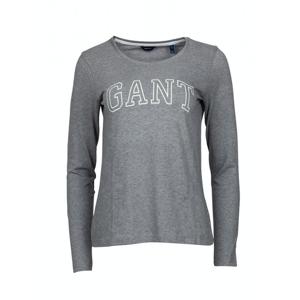 GANT Arch Logo LS T-shirt - Grey Melange