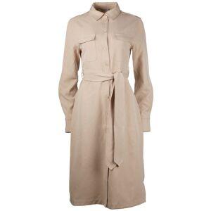 NA-KD Belted Long Shirt Dress - SandBeige