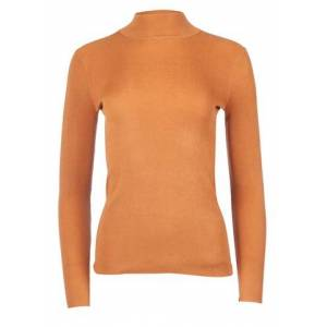 NA-KD Ribbed Polo Knitted Sweater - Golden Sand
