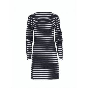 GANT Breton Stripe Boatneck Dress - Evening Blue