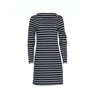 GANT Breton Stripe Boatneck Dress - Evening Blue