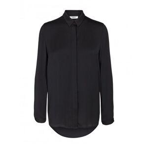 Moss Copenhagen Blair Polysilk Shirt - Black