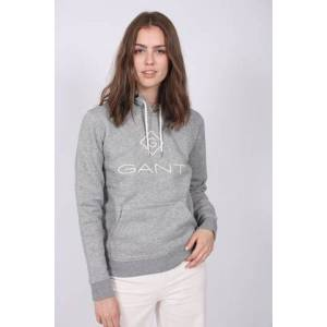 Gant Lock Up Sweat Hoodie - Grey Melange