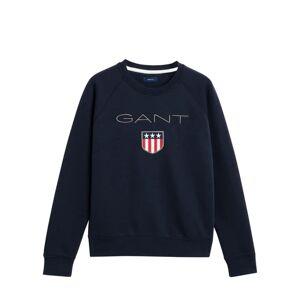 Gant Shield Logo C-neck Sweat - Evening Blue