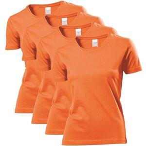 Stedman 4-pakning Classic Women T-shirt - Orange