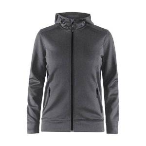 craft Noble Full Zip Hood Women - Darkgrey