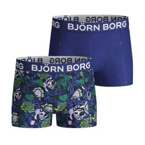 Björn Borg 2-pakning Cotton Stretch Shorts For Boys 1932 - Blue w Flower * Kampanje *
