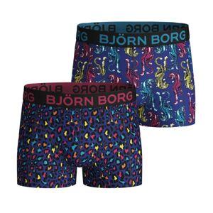 Björn Borg 2-pakning Cotton Stretch Shorts For Boys 1932 - Leopard * Kampanje *