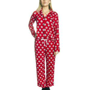 DKNY The Wishlist Top and Pant Pj Set - Red Pattern-2