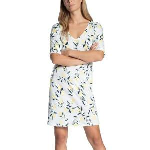 Calida Favourites Trend Loungedress - White Pattern-2