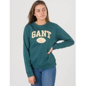 Gant, TB. GANT C-NECK SWEAT, Grønn, Gensere/Cardigans för Jente, 134-140 134-140 Grønn