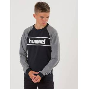 Hummel, HMLMALI SWEATSHIRT, Svart, Gensere/Cardigans för Gutt, 128 cm 128 cm Svart