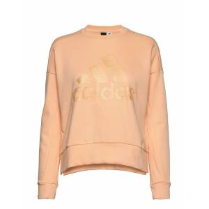 adidas Performance W Id Glam Sweat Sweat-shirt Genser Beige Adidas Performance