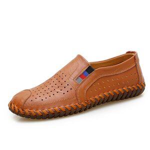 273c6cd9291 Se TILBUD på DEKABR Brand Genuine Leather Men Shoes Summer New Large ...