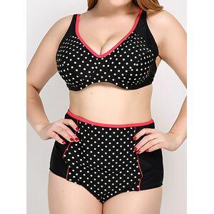 f7169cf7cdc Newchic Plus Size Sexy Polka Dot Adjustable Sports Bikini Beachwear For  Women