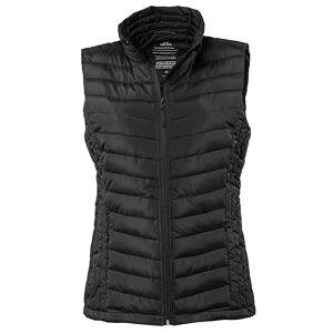 Tee Jays kvinners/damer polstret Zepelin Vest jakke / vest Svart L