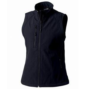 Russell damer/kvinners softshell pustende vest jakke Svart L