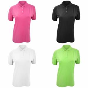 Kustom Kit Kustom orientert Kit damer Kate Comfortec® kort ermet Polo skjorte Hvit 14
