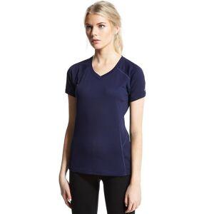 Berghaus kvinners kort erme v-hals Tech t-skjorte Marinen 14