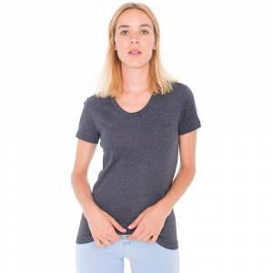 American Apparel kvinners/damer lakenpose kort erme t-skjorte Asfal...