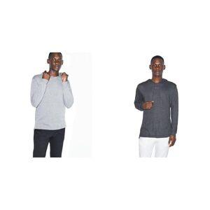 American Apparel unisex voksne Tri-Blend langermet Hettegenser Tri-svart S