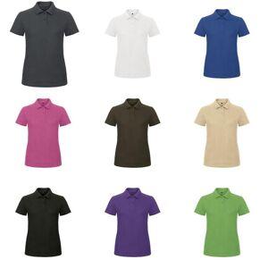 B&C B & C kvinners/damer ID.001 vanlig kort ermet Polo skjorte Pixel Coral S