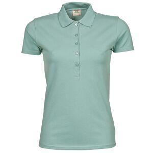 Tee Jays kvinners/damer luksus strekk kort ermet Polo skjorte Dus grønn S