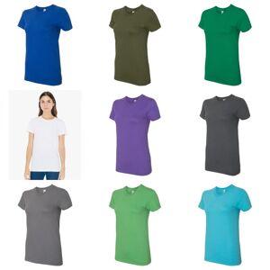 American Apparel Womens Fine Jersey Tee Hvit XL