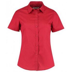 Kustom Kit Kustom orientert Kit kvinners/damer kort ermet skreddersydd Poplin skjorte Lys grå 14