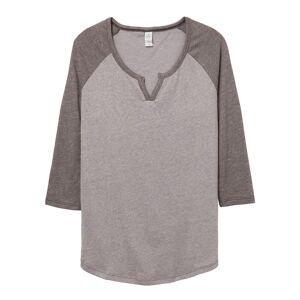 Alternative Apparel Alternative klær kvinners/damer banen Vintage 50/50 langermet t-skjorte Røyk/Vintage kull XL