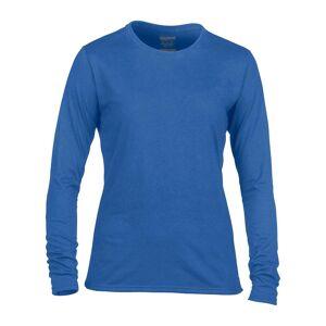 Gildan kvinners/damer ytelse Freshcare lang ermet t-skjorte Royal 2XL