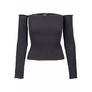 Urban Classics Women's Long sleeve shirt Cold Shoulder Smoke L/S