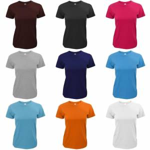 B&C B & C nøyaktig 190 damer Tee / damer kort erme t-skjorter Marineblå S