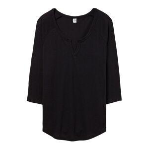 Alternative Apparel Alternative klær kvinners/damer banen Vintage 50/50 langermet t-skjorte Sølv/Vintage marinen L