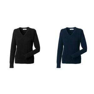 Russell samling damer/kvinners v strikket Genser genser Franske marinen 3XL