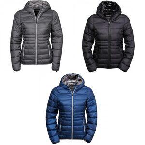 Tee Jays kvinners/damer hette polstret Zepelin jakke Plass grå/grå XL