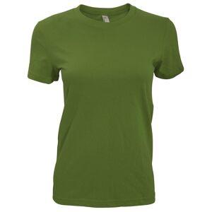 American Apparel kvinners/damer vanlig kort erme t-skjorte Oliven S