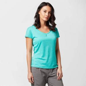 Berghaus New Berghaus Women's Explorer Short Sleeve Tech Tee Blue 16