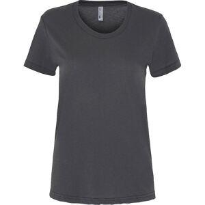 American Apparel kvinners/damer lakenpose kort erme t-skjorte Asfalt L
