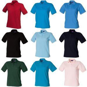 Henbury kvinners/damer 65/35 Polo skjorte Flaske S
