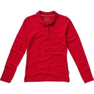 Slazenger kvinners/damer peker lang ermet Polo skjorte Rød S
