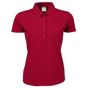Tee Jays kvinners/damer luksus strekk kort ermet Polo skjorte Mørkerød 2XL