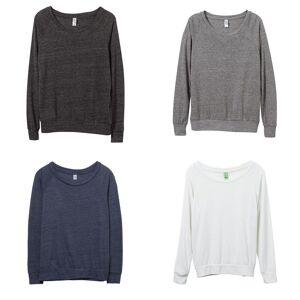 Alternative Apparel Alternative klær kvinners/damer øko-Jersey Slouchy Pullover Eco sann marinen S
