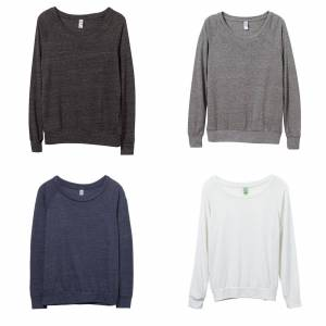 Alternative Apparel Alternative klær kvinners/damer øko-Jersey Slouchy Pullover Eco grå S